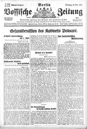 Vossische Zeitung vom 13.05.1924