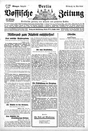 Vossische Zeitung vom 14.05.1924