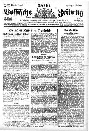 Vossische Zeitung on May 16, 1924