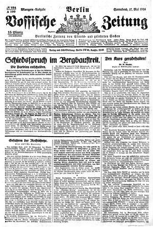 Vossische Zeitung vom 17.05.1924