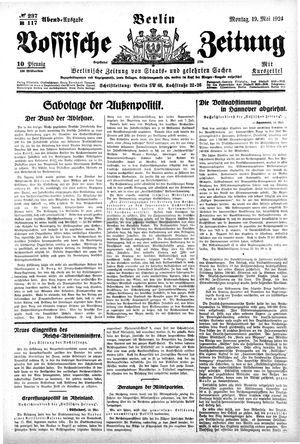Vossische Zeitung vom 19.05.1924