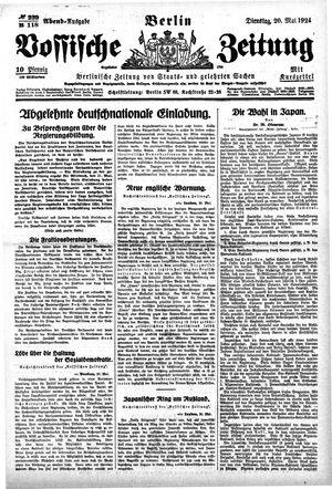 Vossische Zeitung vom 20.05.1924