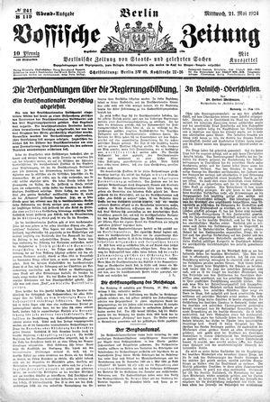 Vossische Zeitung vom 21.05.1924