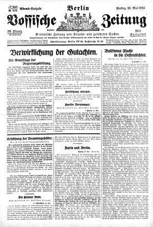 Vossische Zeitung on May 23, 1924