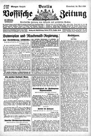 Vossische Zeitung vom 24.05.1924
