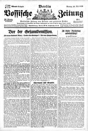 Vossische Zeitung vom 26.05.1924