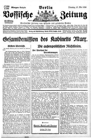 Vossische Zeitung vom 27.05.1924