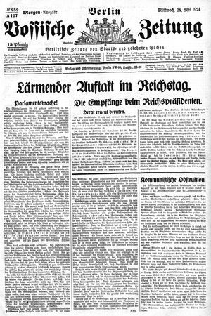 Vossische Zeitung vom 28.05.1924