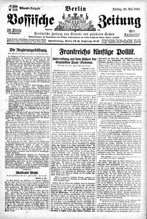 Vossische Zeitung vom 30.05.1924