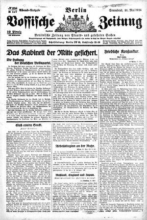 Vossische Zeitung vom 31.05.1924