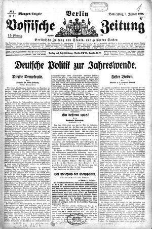 Vossische Zeitung vom 01.01.1925