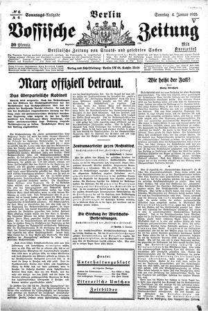 Vossische Zeitung vom 04.01.1925