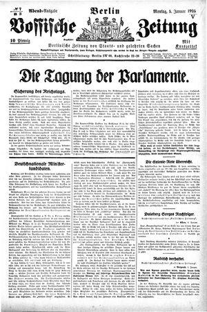 Vossische Zeitung vom 05.01.1925
