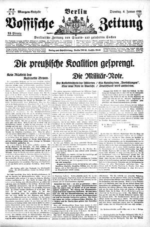 Vossische Zeitung vom 06.01.1925