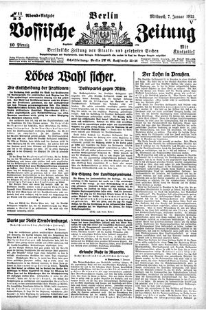 Vossische Zeitung vom 07.01.1925