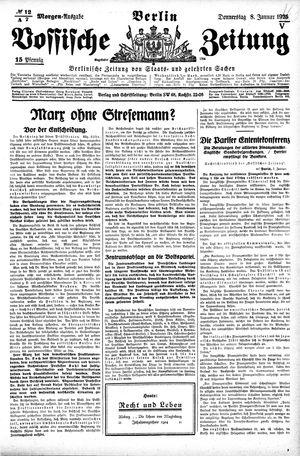 Vossische Zeitung vom 08.01.1925