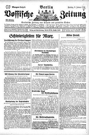 Vossische Zeitung on Jan 9, 1925