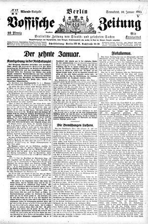 Vossische Zeitung vom 10.01.1925