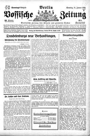 Vossische Zeitung vom 11.01.1925