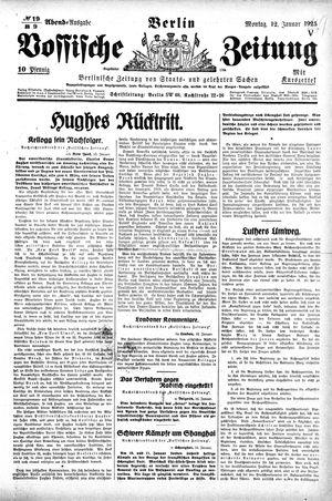 Vossische Zeitung vom 12.01.1925