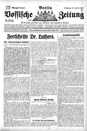 Vossische Zeitung vom 13.01.1925