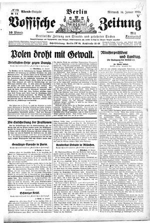 Vossische Zeitung vom 14.01.1925