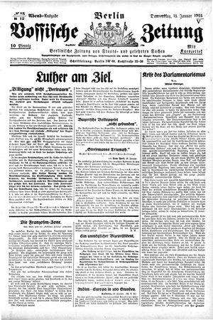 Vossische Zeitung vom 15.01.1925