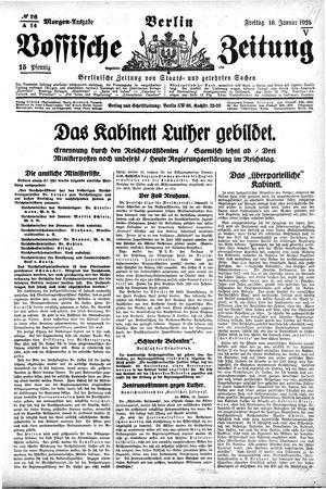 Vossische Zeitung vom 16.01.1925