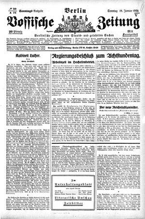 Vossische Zeitung vom 18.01.1925