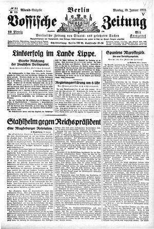 Vossische Zeitung vom 19.01.1925