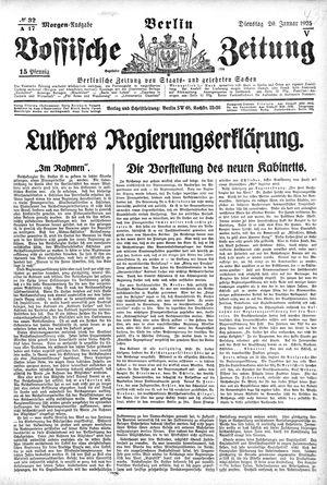 Vossische Zeitung vom 20.01.1925