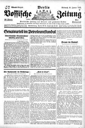 Vossische Zeitung vom 21.01.1925