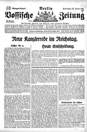 Vossische Zeitung vom 22.01.1925