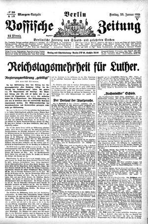Vossische Zeitung vom 23.01.1925