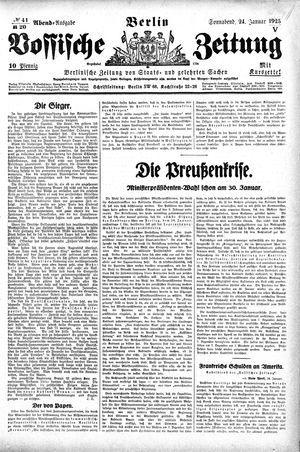 Vossische Zeitung vom 24.01.1925