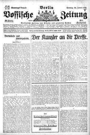 Vossische Zeitung vom 25.01.1925