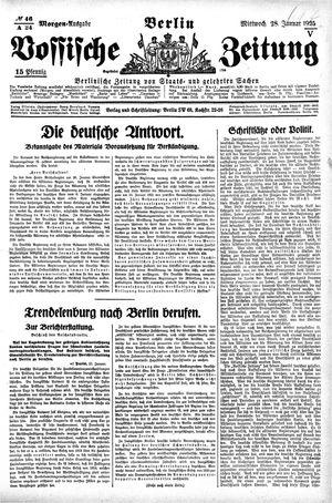 Vossische Zeitung vom 28.01.1925