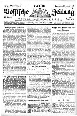 Vossische Zeitung vom 29.01.1925
