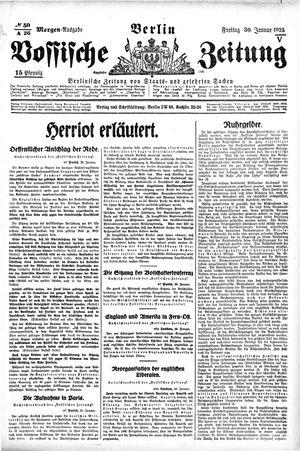 Vossische Zeitung vom 30.01.1925