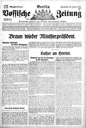 Vossische Zeitung vom 31.01.1925