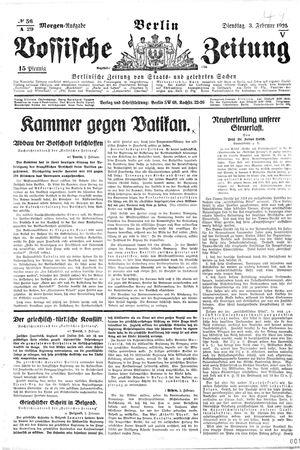 Vossische Zeitung vom 03.02.1925