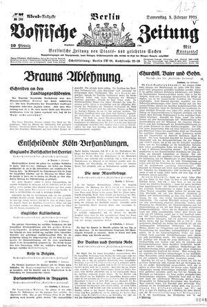 Vossische Zeitung vom 05.02.1925