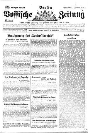 Vossische Zeitung vom 07.02.1925