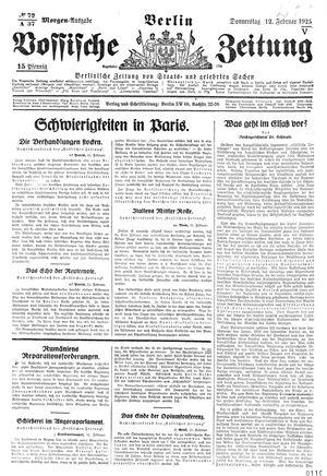 Vossische Zeitung vom 12.02.1925