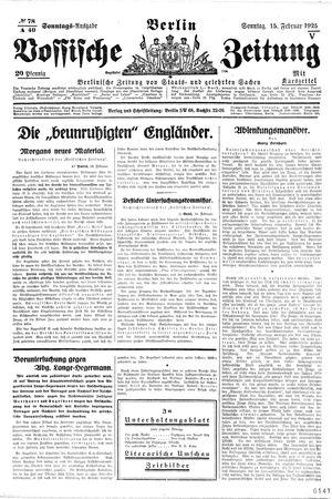 Vossische Zeitung vom 15.02.1925