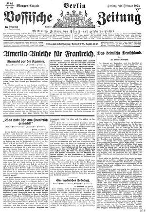Vossische Zeitung vom 20.02.1925