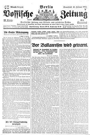 Vossische Zeitung vom 21.02.1925