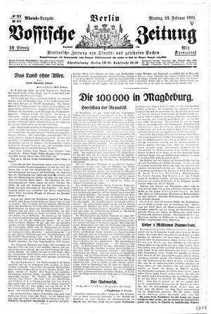 Vossische Zeitung vom 23.02.1925