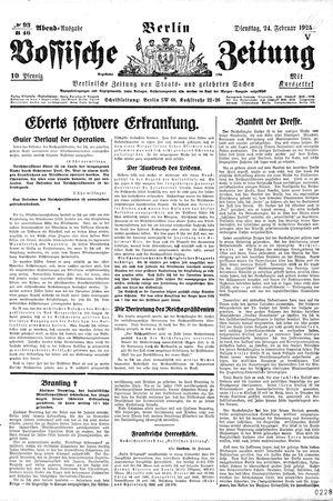 Vossische Zeitung vom 24.02.1925