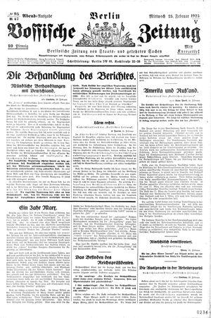 Vossische Zeitung vom 25.02.1925